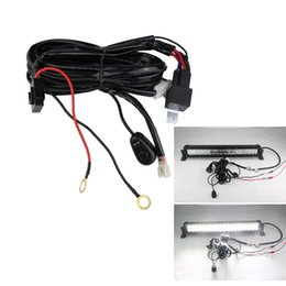 Wholesale Relay Wire Harness - Universal 3M LED Work Light Bar Wiring harness set Wiring kit 12V 40A Switch Relay kit