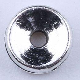 Wholesale Necklace Pendant Spacers - 2016 DIY jewelry silver copper Retro Circular spacers Pandora pendant fit Necklace or Bracelets 2000 pcs lot 1857c