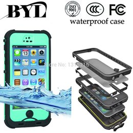 Wholesale Drop Shipping Cell Phones - Waterproof Dropproof Dirtproof Shockproof cell phone Cases Multi-Level Protection case for Iphone 4 4s 5 5s 5c 6 6 plus drop shipping