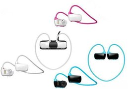 Wholesale Free Walkman - New Sports Mp3 player w273 8GB Smart Wireless Sweat-band Walkman Running earphone Mp3 player headset headphone free shipping
