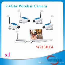 Wholesale Pcs Security Systems - CHpost 1 PC 2.4GHz 4CH CCTV DIGITAL Wireless Network Security Audio Video Camera System DVR Kit USB ZY-SX-04
