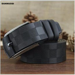 Wholesale 29 32 Jeans Men - New Arrival Italian Leather Belt Men High Quality Jeans Belt Brand Vintage Strap for Men Black Coffee Color Casual Waistband#001