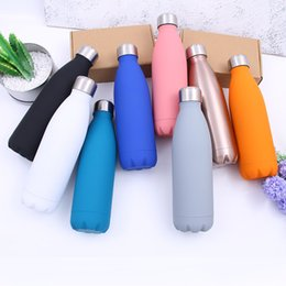 Wholesale B Sleeve - Simple Stainless Steel Cup Direct Drinking Cola Shaped Thermos Water Bottles With Lid Non Slip Kettle For Student 30pg4 B