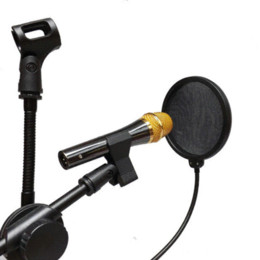 Wholesale Pop Lamp - Flexible Mic Microphone Studio Wind Screen Pop Filter Mask Shied Gooseneck Black gooseneck lamp filter injector