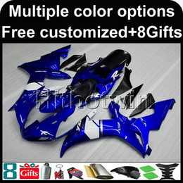 Wholesale Yzf R1 Black - 23colors+8Gifts BLUE motorcycle cover for Yamaha YZF-R1 2002-2003 02 03 YZFR1 2002 2003 02-03 ABS Plastic Fairing