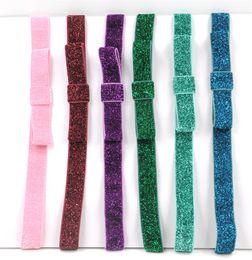 Wholesale Tie Headband Purple - New Women Bow Tie Headbands Bandanas Christmas Sport Hair Accessories High Quality for Wholesale 6 Colors