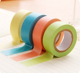 Wholesale Free Scrapbooking Stickers - Scotch Decorative Tape Scrapbooking Stickers Fresh Shredded Multicolour Candy Color Paper Tape Diy Sticker free Shipping
