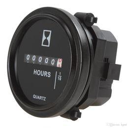 Canada Minuterie mécanique électronique industrielle de mètre rond d'heure de pouce 8-80V de CC pour la voiture de course / ascenseurs de fourche / camions / bateaux CEC_900 Offre