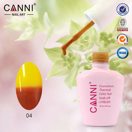 Wholesale Soak Off Uv Gel 12 - 50423X Hot New CANNI 12 Fashion Magic Color Nail Temperature Changeable Soak off UV LED Chameleon Thermal Color Gel Polish 144pcs lot
