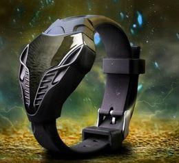 Wholesale Cobra Shape - Fashion Triangle Dial Snake Head Cobra Watches Mens Male Sport LED Watch Creative Mens Silicone digital Wrist watches