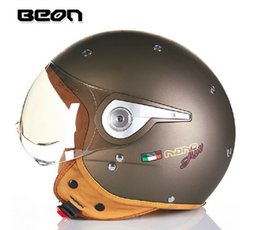 Wholesale Helmet Motorcycle Beon - 2015 authentic Dutch BEON fashionable Harley style helmets B110A half face helmet Motorcycle helmet electric bicycle helmet men and women