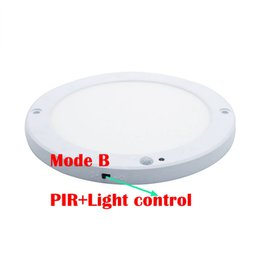 2019 sensor de movimiento led techo Luz del panel de 18W LED Luces de techo Led sensor Downlight Cuerpo humano Detector infrarrojo Interruptor de movimiento Flush Mount Light sensor de movimiento led techo baratos