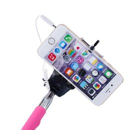 Wholesale Handheld Telescopic Monopod - Monopod Handheld Telescopic Selfie Stick Z07-5plus Tripod Cable Monopod With Holder for iPhone Android phone without groove DHL FREE