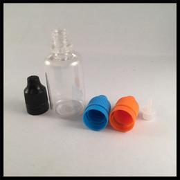 Wholesale E Liquid Tips - E Cigarette 30ml Plastic Dropper Bottles With Childproof Tamper Cap And Long Thin Tip PET Empty Bottle For E Liquid