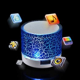 Wholesale Portable High Quality Speakers - New Arrival High Quality music Sound crackle texture LED Light Bluetooth Wireless Mini Portable Speaker Bass For MP3 iPhone iPad +