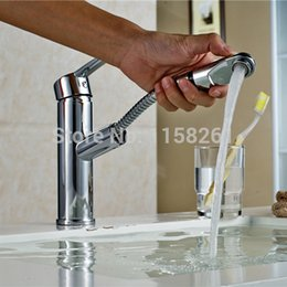 Wholesale Glass Lavatory Faucet - Free shipping Copper Chrome Waterfall Bathroom Faucet Bathroom Basin Hot and Cold Mixer tap Brass Lavatory Tap 518