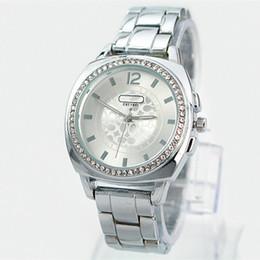 Wholesale Dress Women Silver - 2017 Wholesale Hot Women golden watch Famous Brand wristwatch Japan movement quartz Fashion lady silver dress Watch High Quality