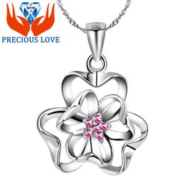 Wholesale Amethyst Grading - 925 Sterling Silver Star Pendant Necklace Five Diamond crystal jewelry pendant in sterling silver grass supply high-grade jewelry