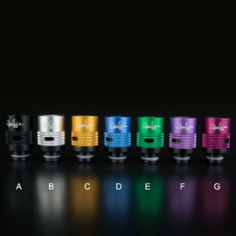 Wholesale Mechanical Mod Drip - Adjustable airflow Style Drip Tip Aluminum Wide Bore Drip Tips with Carving 510 EGO Atomizer Mouthpieces for Kanger Protank mechanical mod