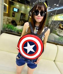 Wholesale Tablet Avengers - The Avengers,Captain America Shield Backpack men Women Bag PU leather Shoulder back pack Casual school tablet backpacks Free Shipping