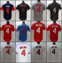 Wholesale Molina Baseball - 2017 Stitched Men's St. Louis Player Weekend Jersey #4 Yadier Molina Baseball Jerseys Flex Base Cool Base Red White Navy Grey Free shipping