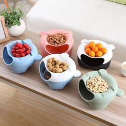 Wholesale Plastic Household Products - Creative lazy fruit plate Desktop Candy color garbage storage box Creative household products Living room bedroom fruit organizer wholesale