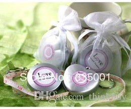Wholesale Love Beyond Measure Measuring Tapes - Factory directly sale-- 50pcs LOT Love Beyond Measure Measuring Tape Keychain in Sheer Organza Bag 052828