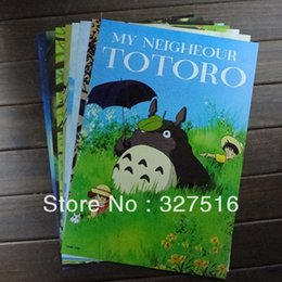Wholesale Poster Quality - Wholesale-Hot sells Japan anime TOTORO Posters 8 pcs  set High quality anime posters Size:42 x 29 cm Birthday gift Free shipping