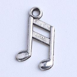 Wholesale Fit Symbol - Silver copper Retro Floating Charms Music symbol Note Pendant Fit Bracelets Necklace DIY Metal Jewelry Making 2000pcs lot 1082x