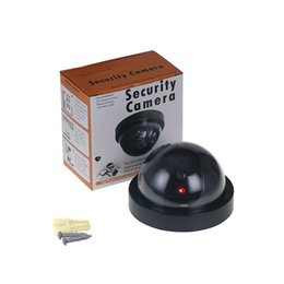 Wholesale Outdoor Dummy Dome Cctv Cameras - Dummy Fake Camera Outdoor Indoor Fake Surveillance Camera Dome CCTV Security Camera With Flashing Red LED Light