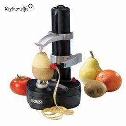 Wholesale Multifunction Peeler - Keythemelife Multifunction Electric Fruit Vegetable Peeler Potato Peeler Machine Fruit Apple Cutter Peeling Kitchen Machine Tooll 2d