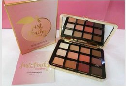 Wholesale Glitter Cream Palette - 2017 NEW Just Peachy Mattes Velvet Matte Eyeshadow Palette Peaches & Cream eye shadow free shipping