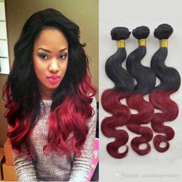 Wholesale Bella Hair Brazilian Body Wave - Is Bella 7A Grade Wavy Brazillian Virgin Hair 3 Bundles Lot Human Weave Body Wave Ombre Black and Burgundy Brazilian Hair 3,4,5pcs lot