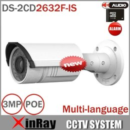 Wholesale Hikvision 3mp Ip Camera - Hikvision Network IP camera DS-2CD2632F-IS, 3MP 2.8-12mm vari-focal lens IR , with Audio alarm, IP66 DS-2CD2632F-I
