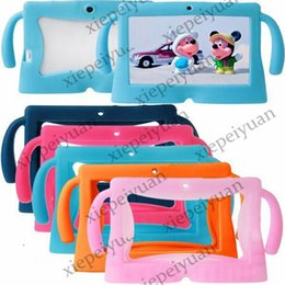 Wholesale Gel A13 Cover - 50PCS Kids Soft Silicone Rubber Gel Case Cover For Q88 A13 A23 A33 Q8 Android Tablet PC