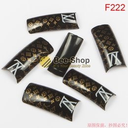 Wholesale Design French Nail Tips - 100pcs Hot selling Fashion attern red body design half cover french nail art tips acrylic half false nails art fake nail tips F222