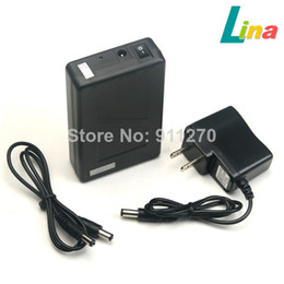 Wholesale 12v Li Ion Batteries - DC 12V 6800mAh Portable Super Capacity Rechargeable Li-ion Battery Pack US Plug for CCTV Cam Monitor LED Strip 5.5x2.1mm