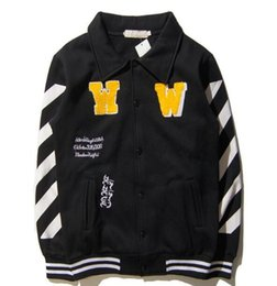 Wholesale Embroidered Patches Letters - jacket supp cham yeezus hoodies Justin Bibo with the same style jacket Embroidered baseball couple coat kanye west jacket