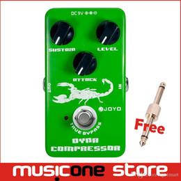 Wholesale Guitar Effect Compressor - Joyo JF-10 Dynamic Compressor Guitar Effect Pedal True Bypass Free shipping MU0010