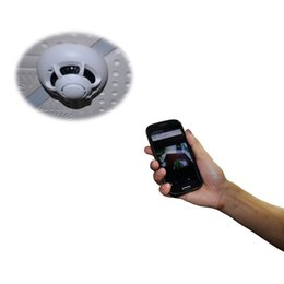 Wholesale Surveillance Cameras Smoke Detectors - UFO WiFi Wireless IP Camera Spy Smoke Detector Surveillance Camera Video Recorder For iPhone Android Smart Phone