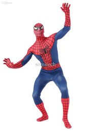 Wholesale Spandex Lycra Stockings - Wholesale-wholesale breathable material new Spiderman Costumes Zentai suits Lycra Spandex Halloween Costumes cosplay [have in stock]