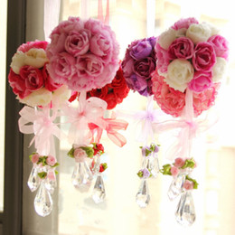 Wholesale Artificial Hot Pink Roses Wholesale - Wedding decorations ball-flower artificial rose simulation roses hot selling korean style silk flower Ishibashi Ball free shipping LH-XAF005