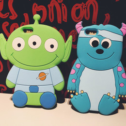 """Wholesale Iphone Mike - 2015 New Arrival 3D Catoon Sulley Aliens Mike Wazowski Red Bear Soft Silicon Protective Back Cover Phone Case For Iphone 6 4.7"""""""