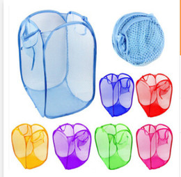 deposito di abbigliamento Sconti La borsa di canestro della lavanderia pieghevole pop-up lavare i vestiti cesto di maglia di stoccaggio giocattoli per bambini scarpe articoli vari di immagazzinaggio DHL spedizione gratuita