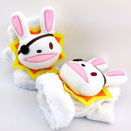 Wholesale live female doll - Date A Live Quaternary is adorable Bunny plush half-finger gloves female models cute doll animation around gift
