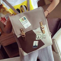 sac à dos en cuir sac de loisirs femme tour Eiffel décoration sac à dos femmes sacs d'école pour adolescent filles mode mochila 2017 ? partir de fabricateur