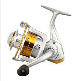 2019 carretes de metal Alta calidad plegable plegable Rocker Metal 1000-7000 Series 12BB Carretes de pesca Spinning Metal Spool Reel Wheel para peces carretes de metal baratos