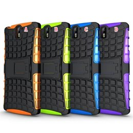 Wholesale Tpu Case For Sony M5 - Ballistic Hybrid Robot Stand Hard PC + TPU case Square Rugged For Sony Xperia E4G E2033 M5 Z5 Premium One Plus Oneplus 1+ 3 in 1 skin luxury