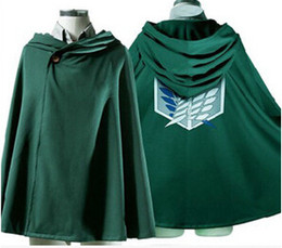 Wholesale Titan Shingeki - attack on titan cosplay costume hoodie cape attack on titan shingeki no kyojin scouting legion scouting legion cape attack on titan cloak