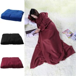 Wholesale Snuggie Blanket Wholesale - Supper Home Winter Warm Color Fleece Snuggie Blanket Robe Cloak With Sleeves SE For Families Lovers With Logo Package